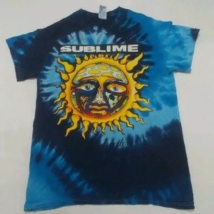 Sublime blue tie dye shirt 40 oz to freedom